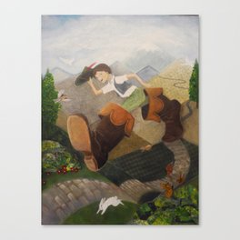 Into the wide world - Klein Duimpje Canvas Print