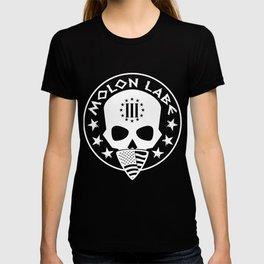 Molon Labe Three Percenter Skull Bandana T-shirt