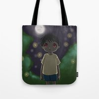 nightmare Tote Bags featuring Nightmare by Cat in the Box