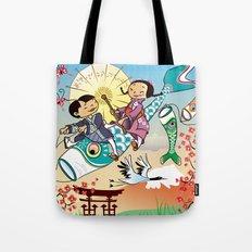 Japan flying fish Tote Bag