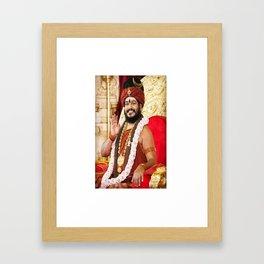 Shri swami nithyananda Framed Art Print