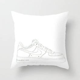 Nike Air Force 1 Low Throw Pillow