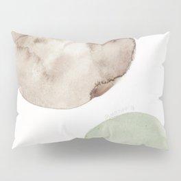 16|181104 Australian Leaf Green & Brown Earth Orbs | Watercolour Circle Abstract Geometrical Pillow Sham