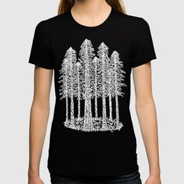 Coastal Redwoods Cathedral Ring Sketch - White T-shirt