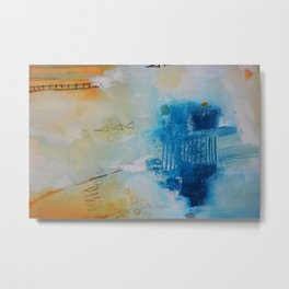 Blue abstract print Metal Print
