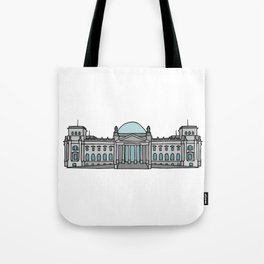 Reichstag building in Berlin Tote Bag
