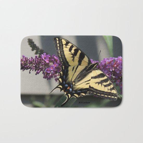 Western Tiger Swallowtail in the Shade Bath Mat