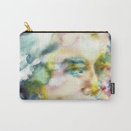 WOLFGANG AMADEUS MOZART - watercolor portrait Carry-All Pouch