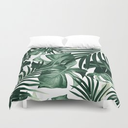 Tropical Jungle Leaves Pattern #4 #tropical #decor #art #society6 Duvet Cover