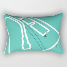 Neon Turntable 3 - 3D Art Rectangular Pillow