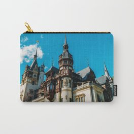 Peles Palace In Transylvania, Architecture Photography, Medieval Castle, Mountain Landscape, Romania Carry-All Pouch
