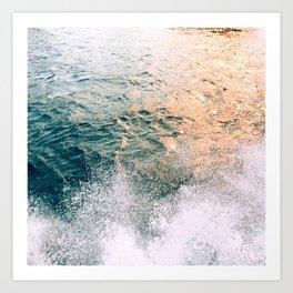 magic hour in the water - colorado river, CA Art Print