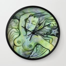 """Woman Resting to the Sea"" Wall Clock"