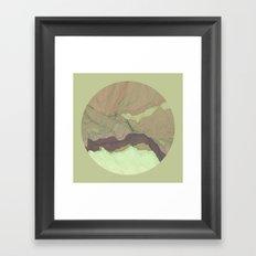 TOPOGRAPHY 003 Framed Art Print