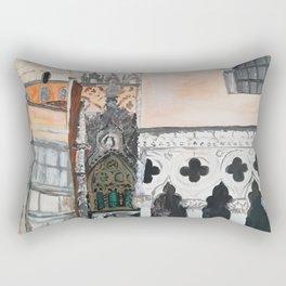 Venice architecture, Piazza San Marco, Dodge's Palace Rectangular Pillow