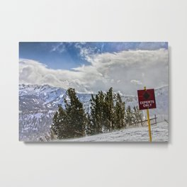 Windy Experts Only Metal Print