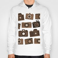 cameras Hoodies featuring cameras (white) by vitamin