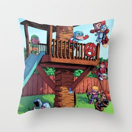 The Avenger Tykes Throw Pillow