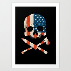 American P$ycho Art Print