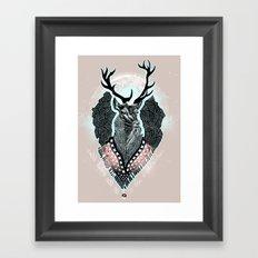 Wind:::Deer Framed Art Print