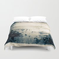 oil Duvet Covers featuring Oil Spill by Tina Vaughn