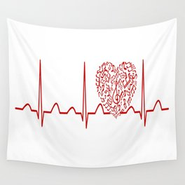 Music Teacher Heartbeat Wall Tapestry