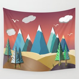 Mountain Landscape 2D Wall Tapestry