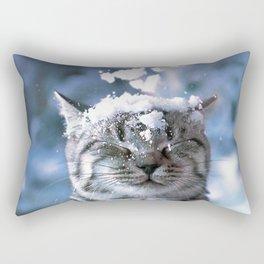 Snow Cat Rectangular Pillow