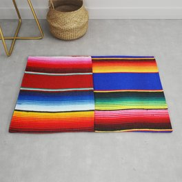 Colorful serape stripes Rug