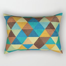 Triangles and Colors Rectangular Pillow