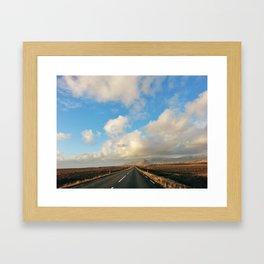 Iceland Road Framed Art Print