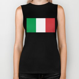 National Flag of Italy, High Quality Image Biker Tank