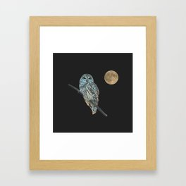 Owl, See the Moon (sq) Framed Art Print