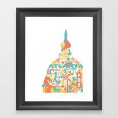 Atlanta, GA Framed Art Print