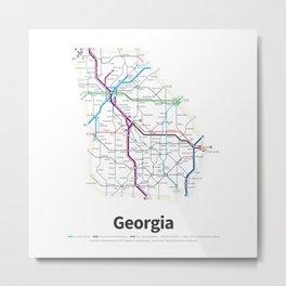 Highways of the USA – Georgia Metal Print