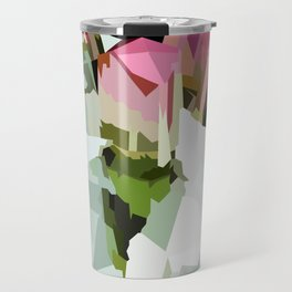 Watermelon Tourmaline Cluster Travel Mug