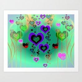 """Heart Burst"" Valentine Love Art Print"