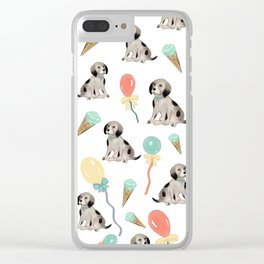 Puppies and ice cream Clear iPhone Case
