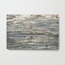 Old Rotten Wood Metal Print