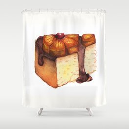 Pineapple Upside-Down Cake Slice Shower Curtain
