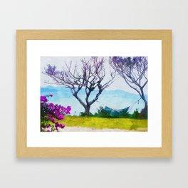 Hammock Bougainvillea Ishigaki Island Framed Art Print