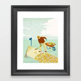 SUBURBAN GOLDWALK Framed Art Print