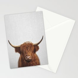 Highland Cow - Colorful Stationery Cards