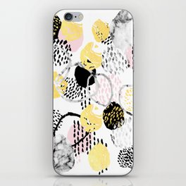 Amalia - gold abstract black and white glitter foil art print texture ink brushstroke modern minimal iPhone Skin