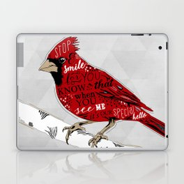 Cardinal Bird Lost Loved One Visiting Laptop & iPad Skin