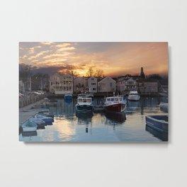 Rockport dock Metal Print