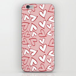 Love, Romance, Hearts - Red Pink White iPhone Skin