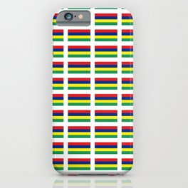 Flag of Mauritius – maurice,mauricien,port-louis,mauritian,rodrigues,creole,dodo,indian ocean iPhone Case