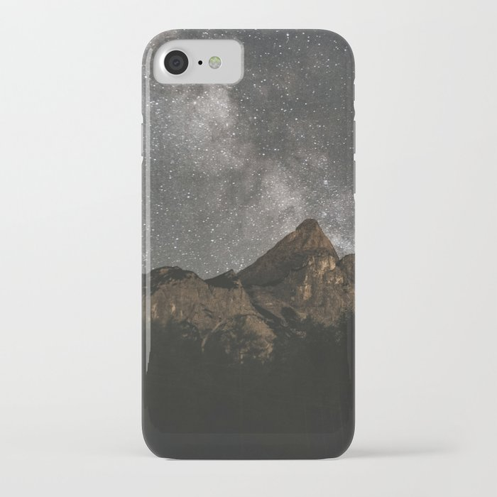 milky way over mountains - landscape photography iphone case