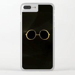 gold black Clear iPhone Case